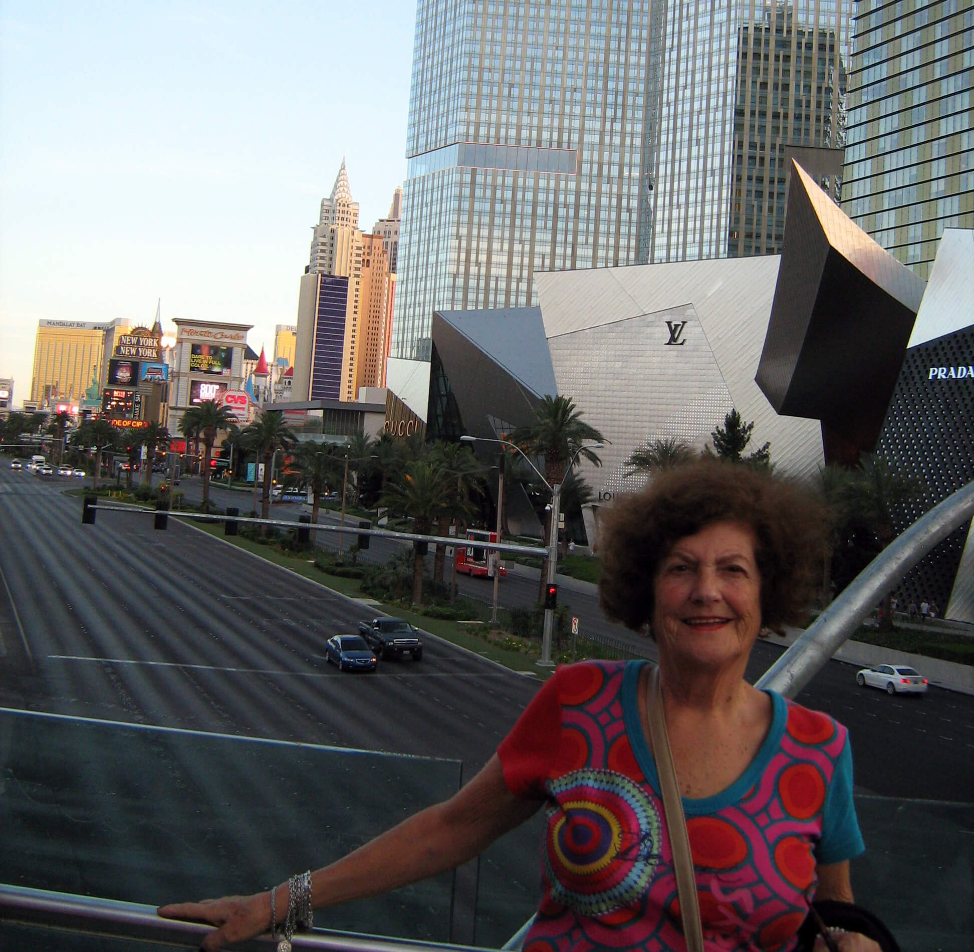 My mother Ana in Las Vegas, USA, aged 80
