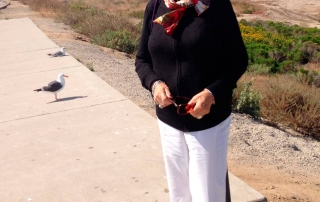 My mother Ana in California, USA , aged 80
