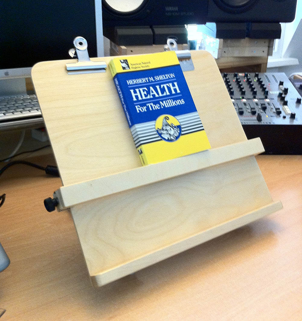 Owning a reading stand comes in handy when having to read extensively. It helps your posture.