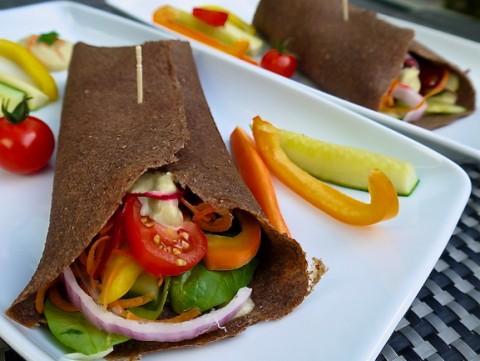 Homemade Mediterranean Flax Tortilla Wrap